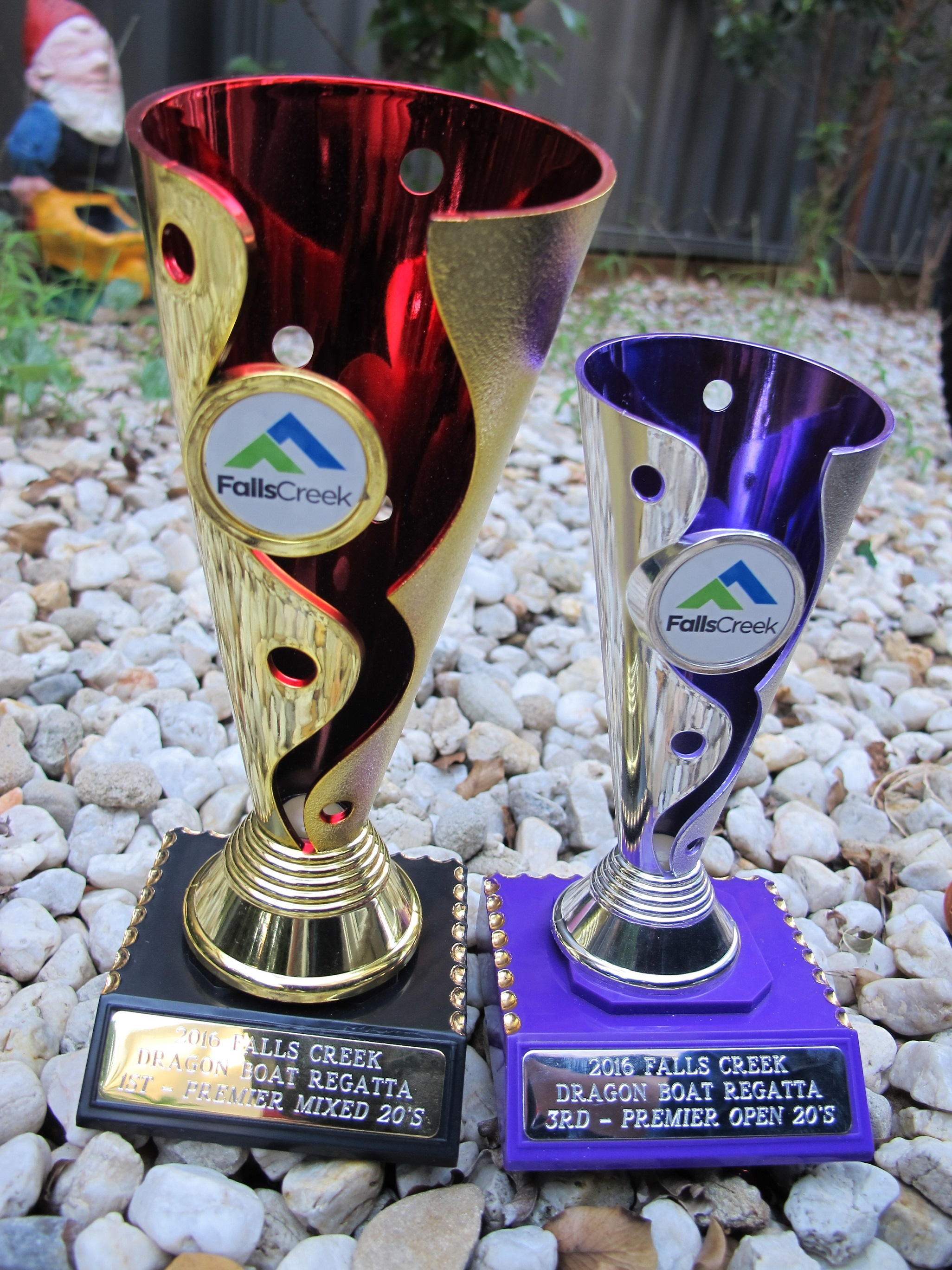Trophies from Mile High Regatta at Falls Creek 2016